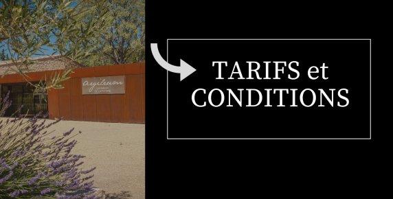 Tarifs et conditions